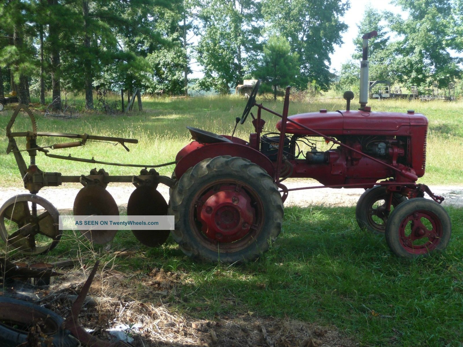 Farmall Tractor Plows : Farmall a tractor w point hitch and twin disc plow