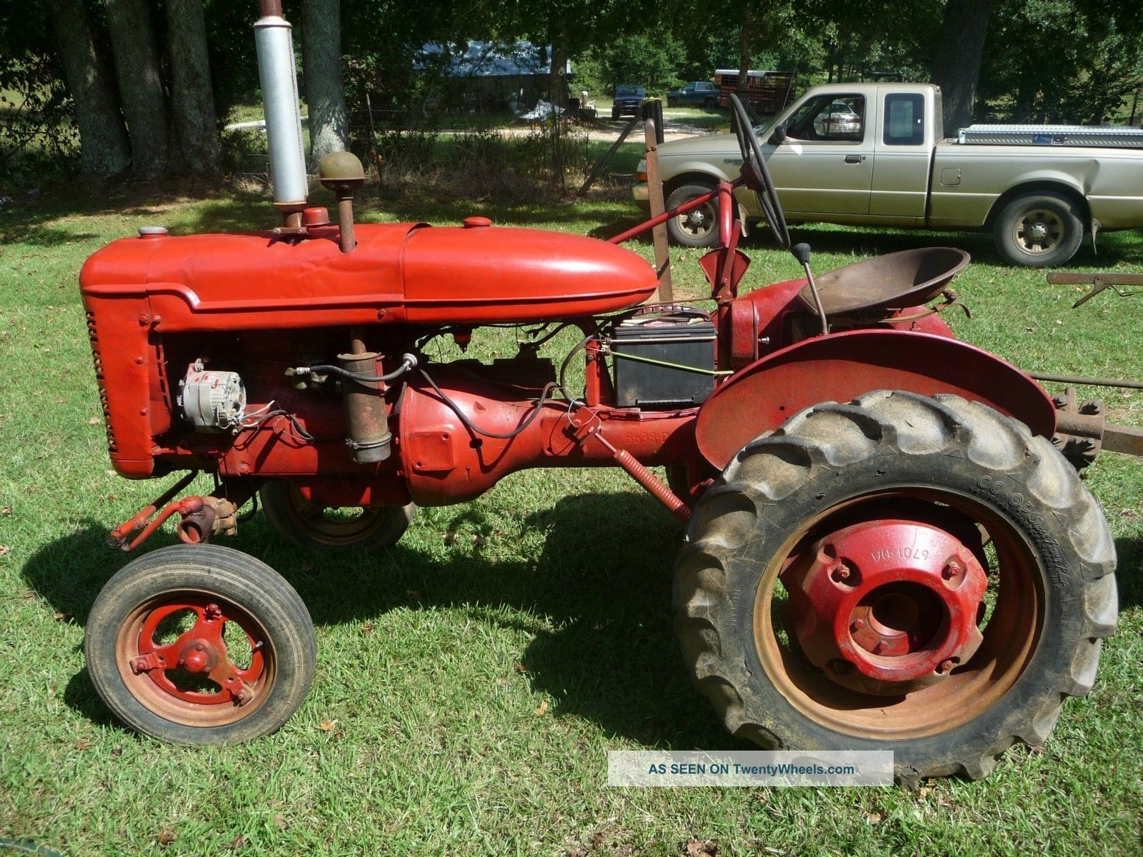 Farmall A Tractor W/2 - Point Hitch And Twin Disc Plow Antique & Vintage Equip Parts photo