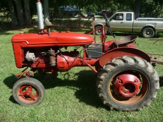Farmall A Tractor W/2 - Point Hitch And Twin Disc Plow photo