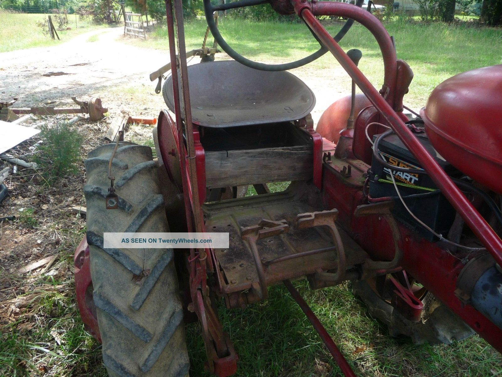 Two Point Tractor : Farmall a tractor w point hitch and twin disc plow