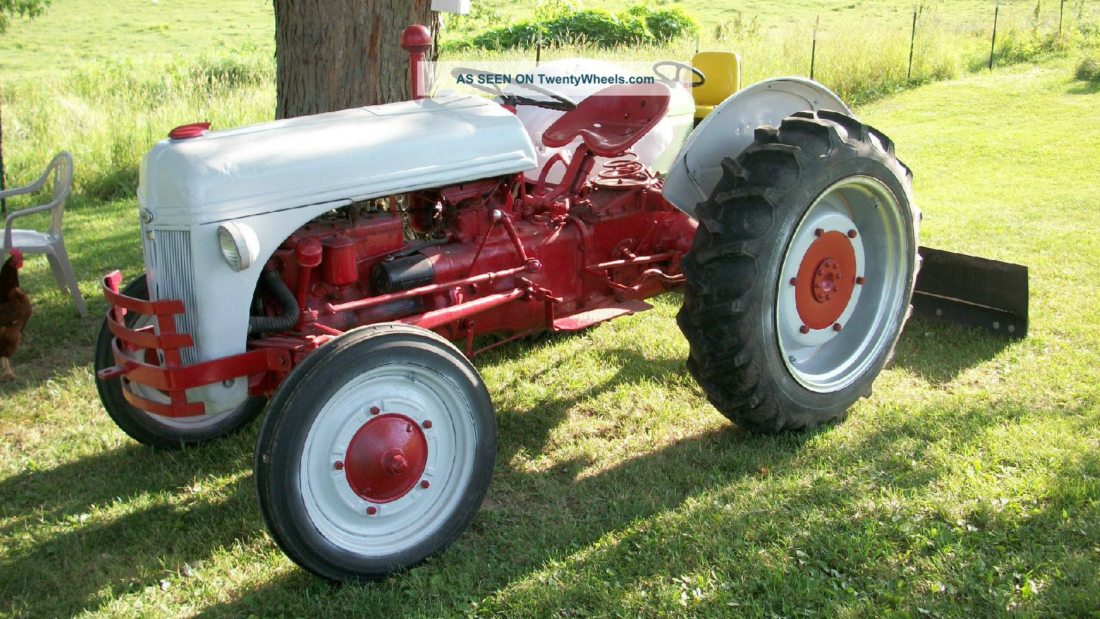Ford 9n Mower : Ford n tractor with blade sherman overdrive pt hitch