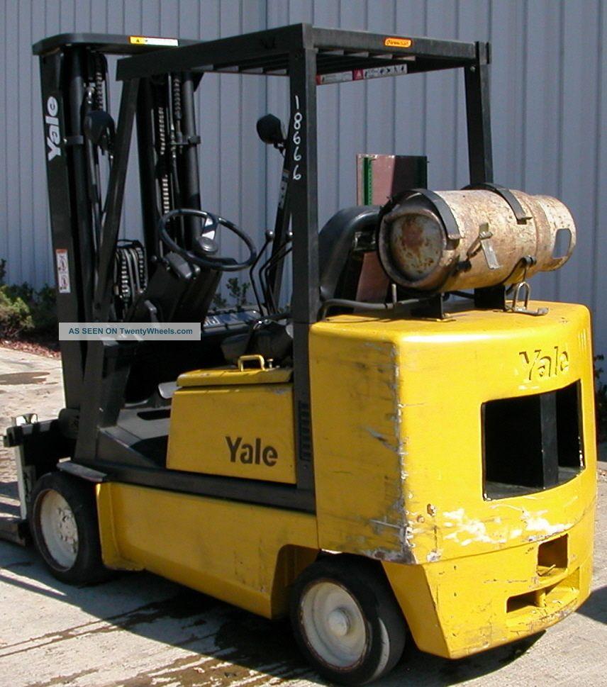 Yale Model Glc050den (1996) 5000lbs Capacity Lpg Cushion