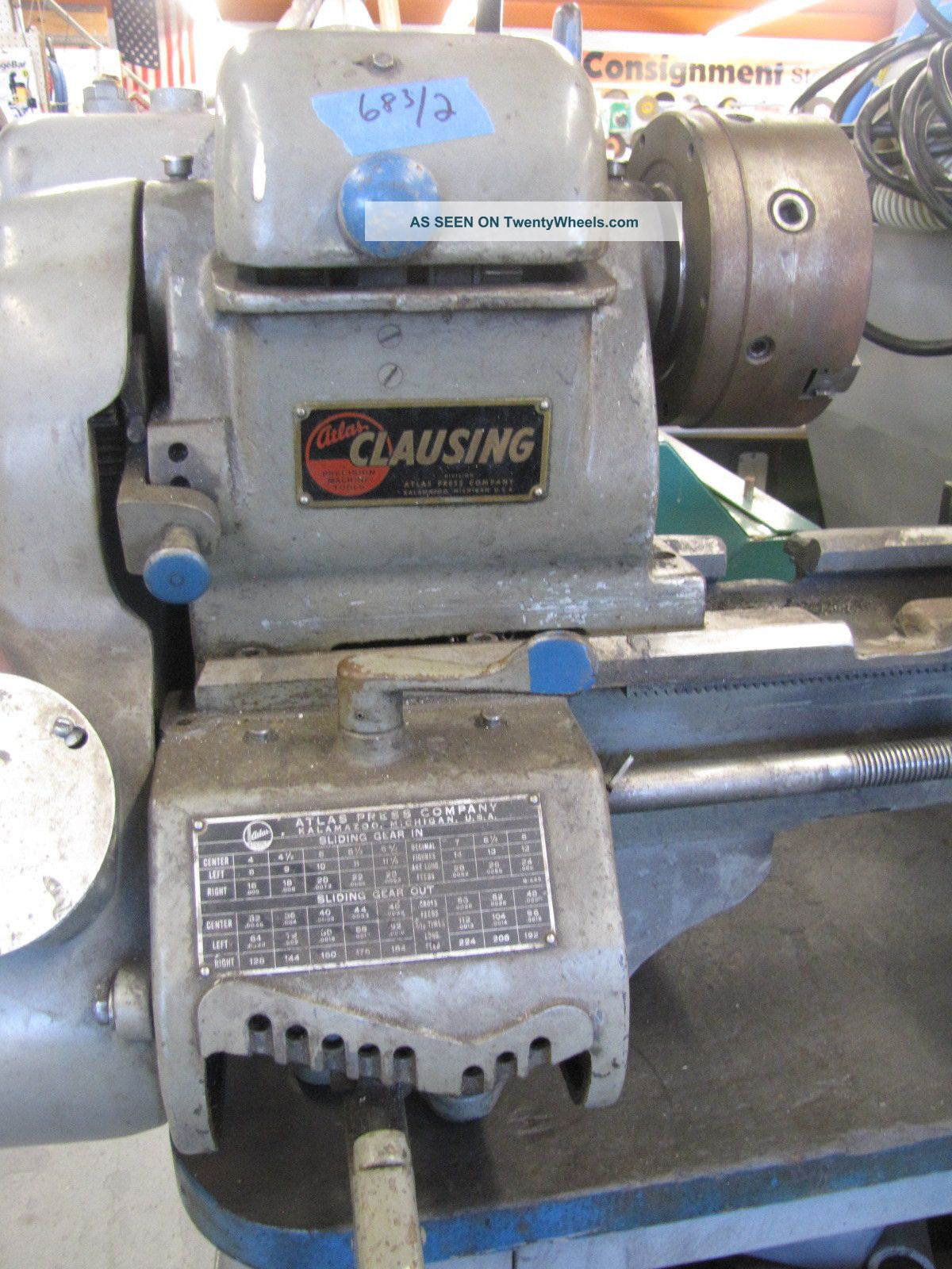 Atlas Clausing 4803 Metal Lathe 6