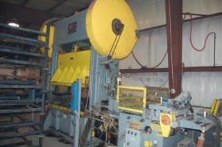 Warco 100 - 2 - 72c Ssdc 100 Ton Staight Side Stamping Press With Jaybird Feeder photo