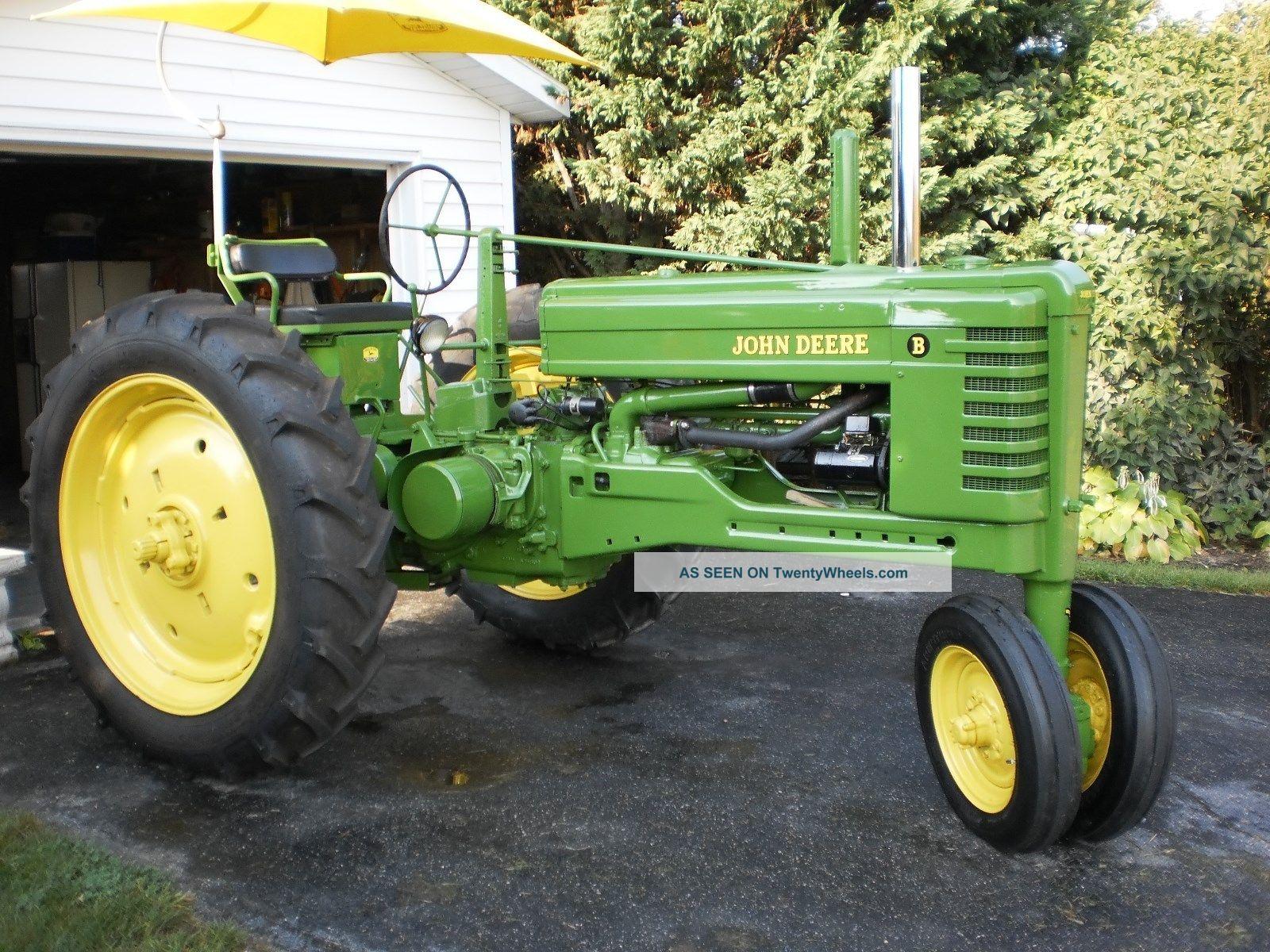 1952 Vintage John Deere B Tractor Restored