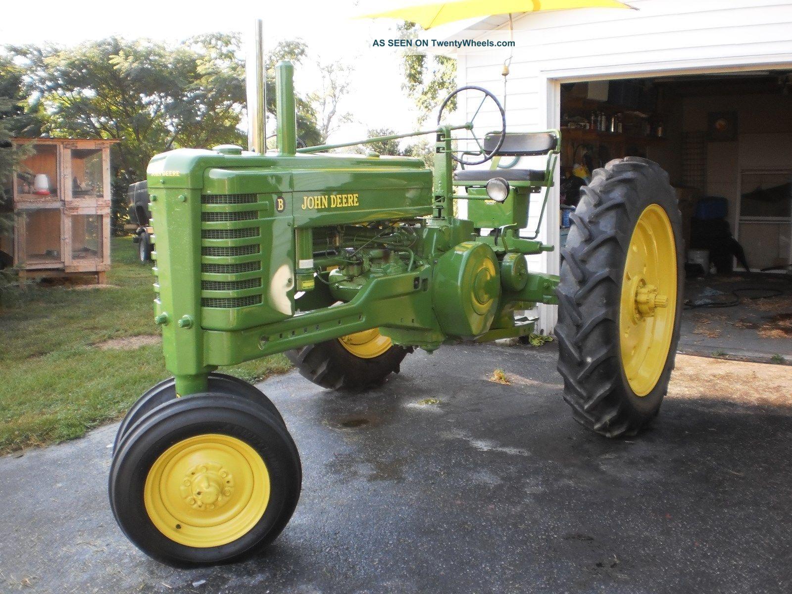 Old John Deere Tractors : Vintage john deere b tractor restored