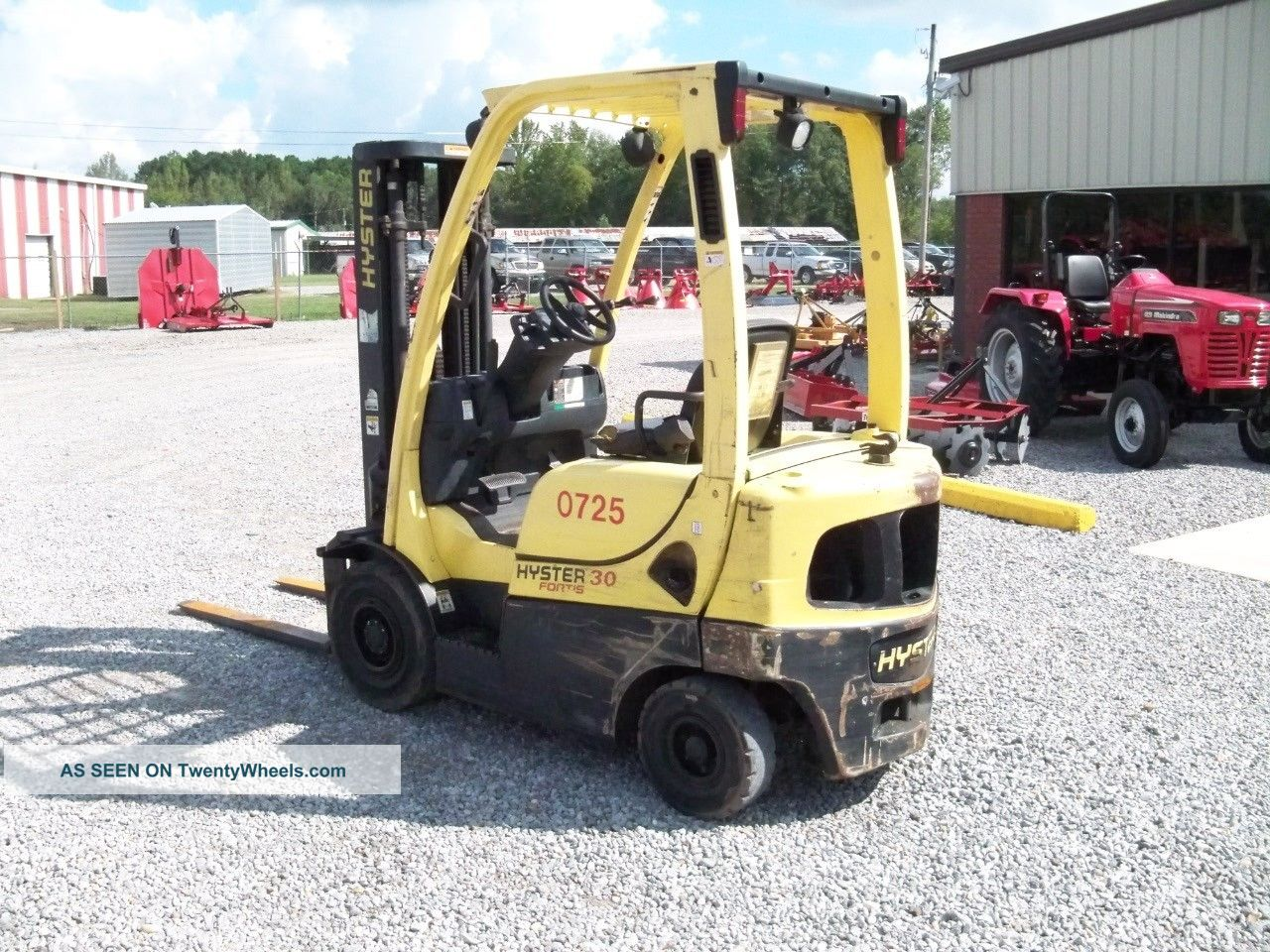 2007 hyster h30ft mast forklift tow motor 14 39 lift for Tow motor vs forklift