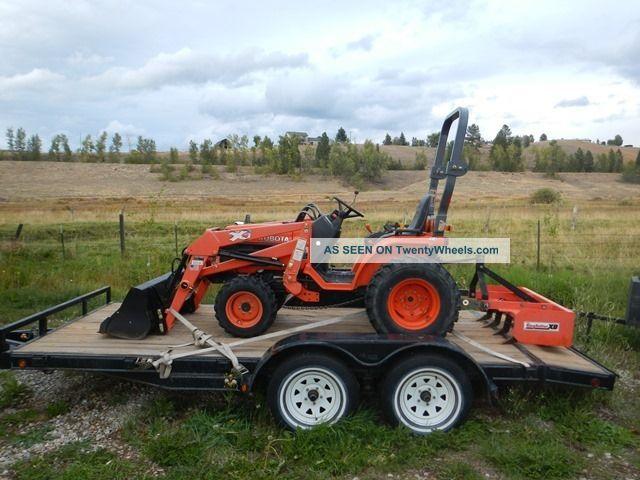 Kubota Box Blade : Kubota tractor b with loader and box blade