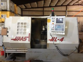 98 Haas Hl - 4 Cnc Lathe W/ Live Tool Capability Tailstock Collet Chuck Rigid Tap photo