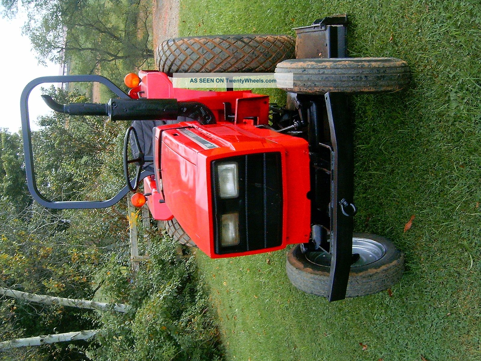 International 244 Compact Diesel Tractor With Woods Finish