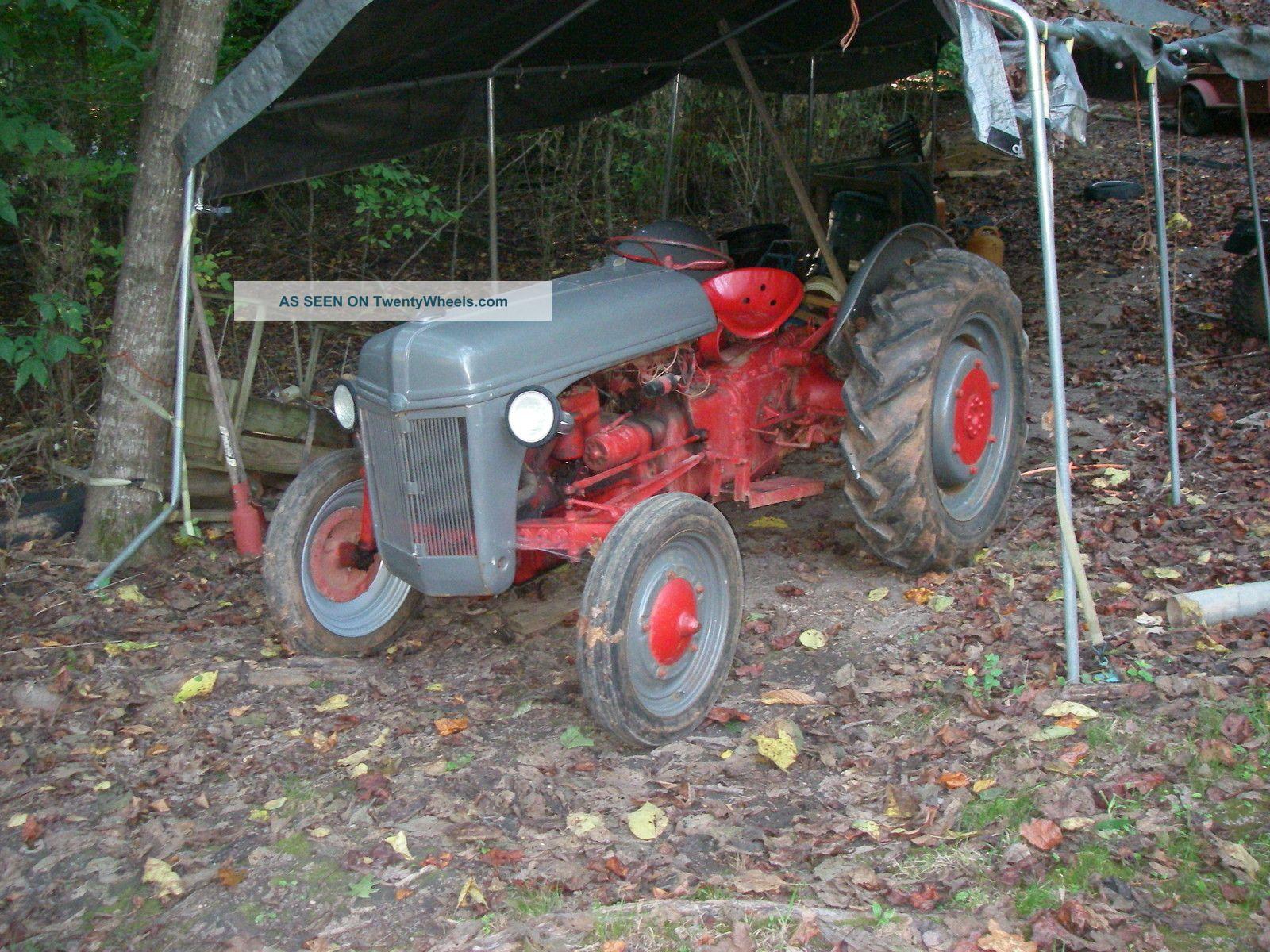 ford ferguson  tractor  bush hog