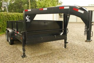 Gooseneck Trailer,  Hydraulic Dump,  Kerrbilt,  Kerr Bilt,  Oklahoma,  Boswell,  14 ' photo