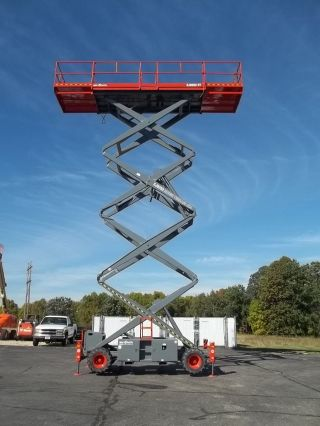 Look 56 ' Diesel Skyjack Scissorlift 4x4,  Dual Power Decks,  Outriggers, photo