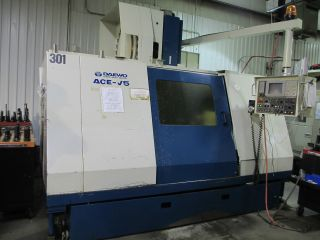 Daewoo Ace V50 Cnc Vertical Machining Center W/ Rotary 4th Axis photo
