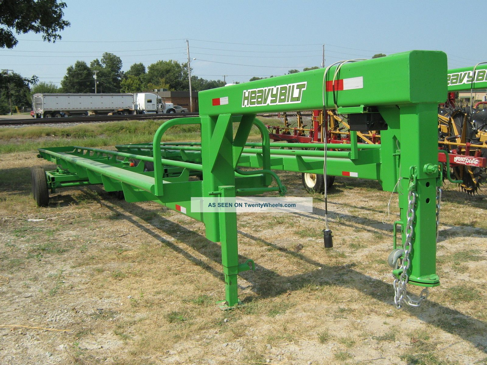 13768 35  heavybuilt hay trailer tandem axle side dump farm tractor deere holland
