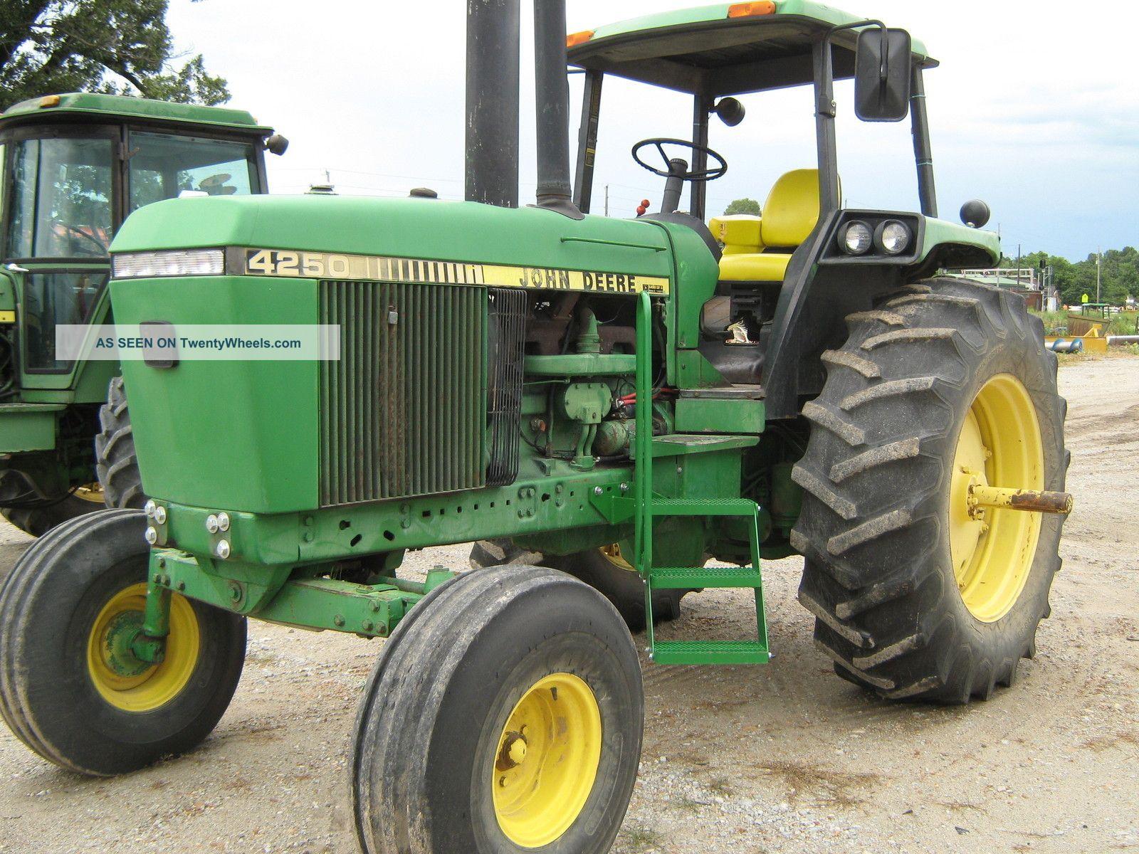 1988 john deere 4250 tractor rollgard quad range runs. Black Bedroom Furniture Sets. Home Design Ideas