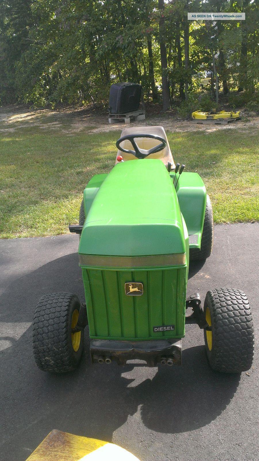John Deere Diesel Lawn And Garden Tractor W In Mid Mount Mower Deck Lgw