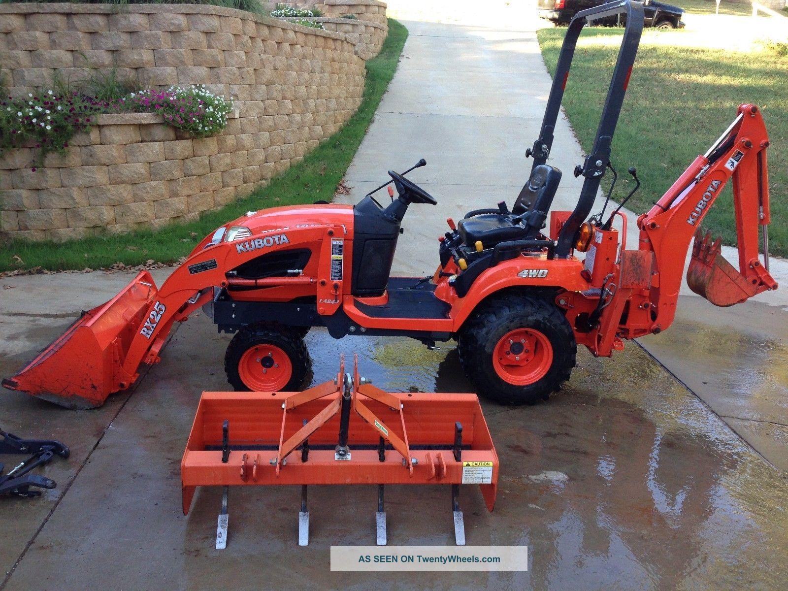 Kubota Box Blade : Kubota bx tractor loader backhoe with box blade