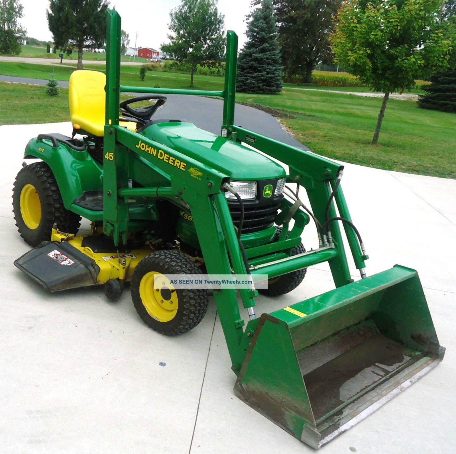 John Deere Garden Tractors 4x4 : John deere garden tractor w loader