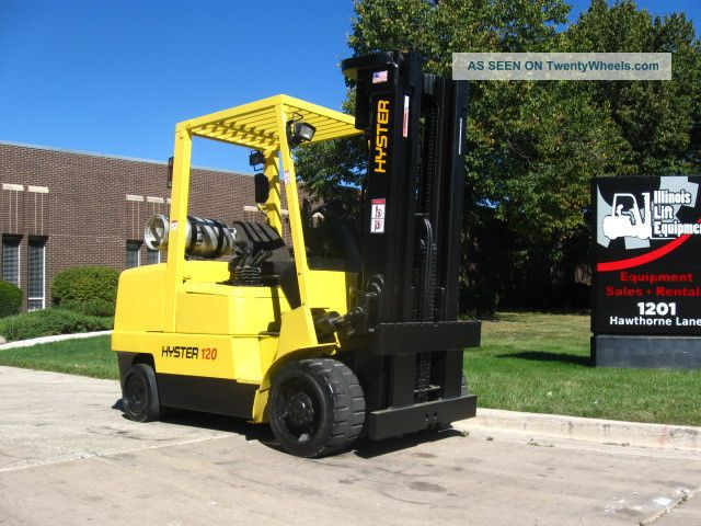 2002 Hyster Yale S120xm Forklift 12000lb Cushion Lift Truck