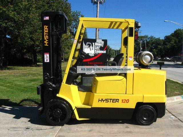 2002 Hyster Yale S120xm Forklift 12000lb Cushion Lift Truck Hi Lo
