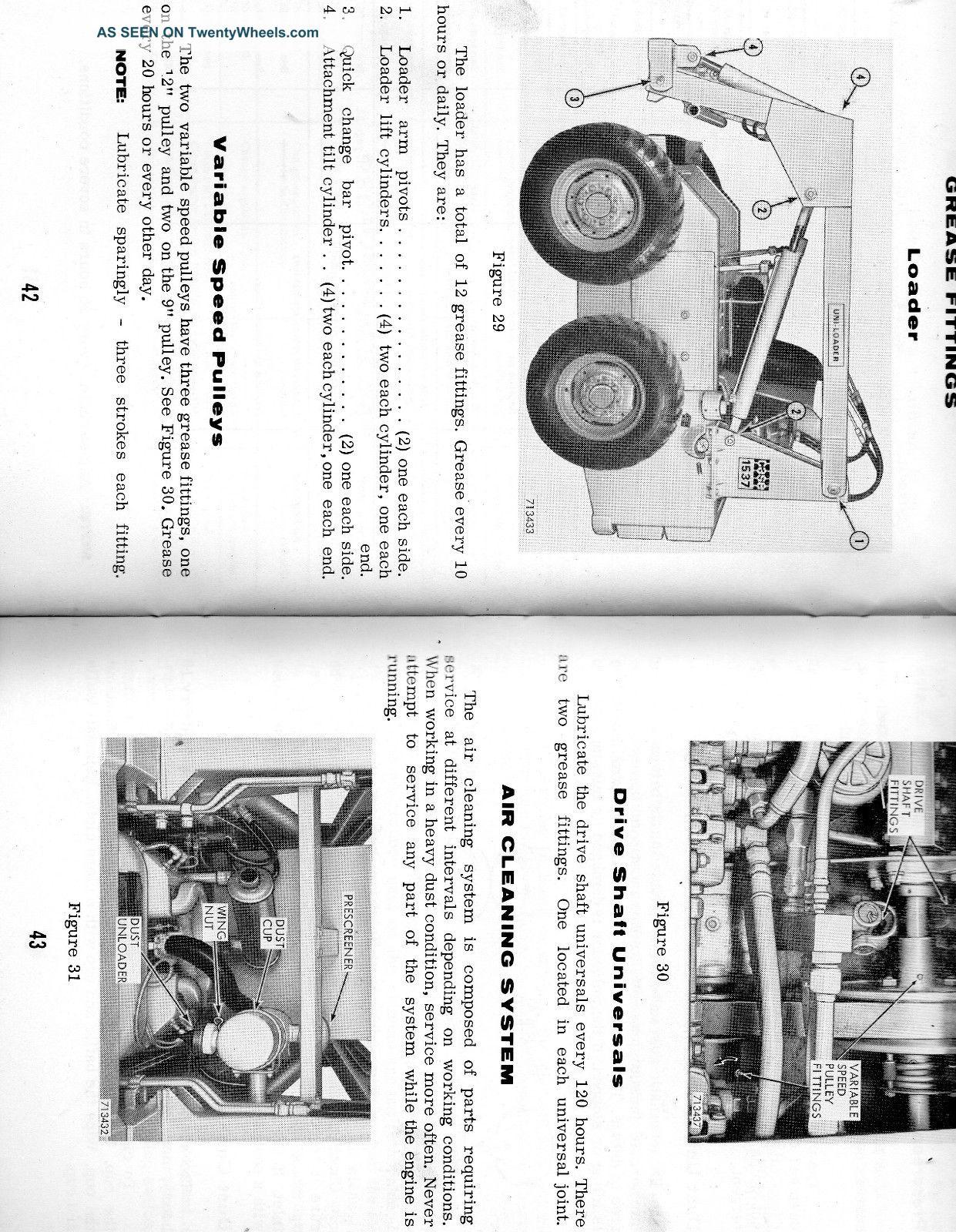 Case Uniloader Skid Steer Skidsteer Gas Wisconsin V Engine Wmanuals Lgw on Wisconsin V4 Engine Specs