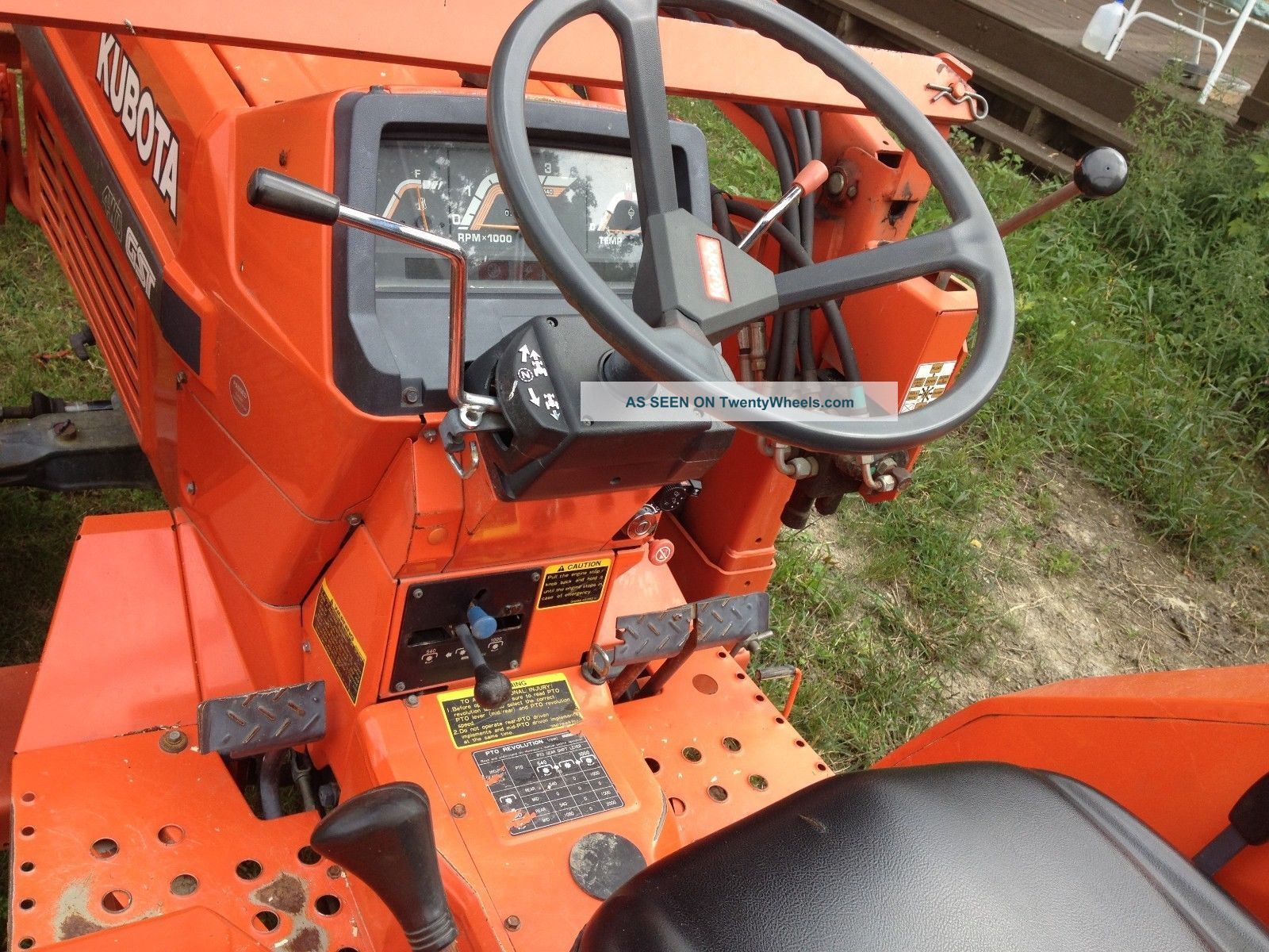 Tractor Differential Lock 4243 : Kubota l diesel wd tractor loader diff lock