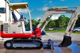 Takeuchi Tb125 Mini Excavator,  2008,  Digs 9 ' 5