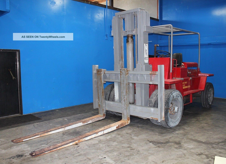 Four Way Side Loader Forklift Mitsubishi Rbm2025k Series: 28, 000 Lb. Silent Hoist Model Fk