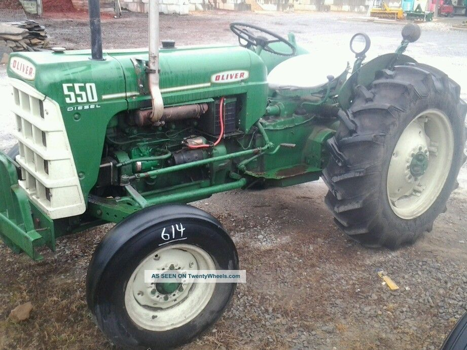 550 Oliver Tractor With Loader : Oliver diesel
