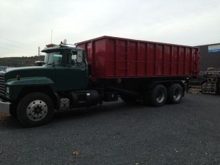 1997 Mack Roll Off Truck With 3 - 30 Yard Containers photo