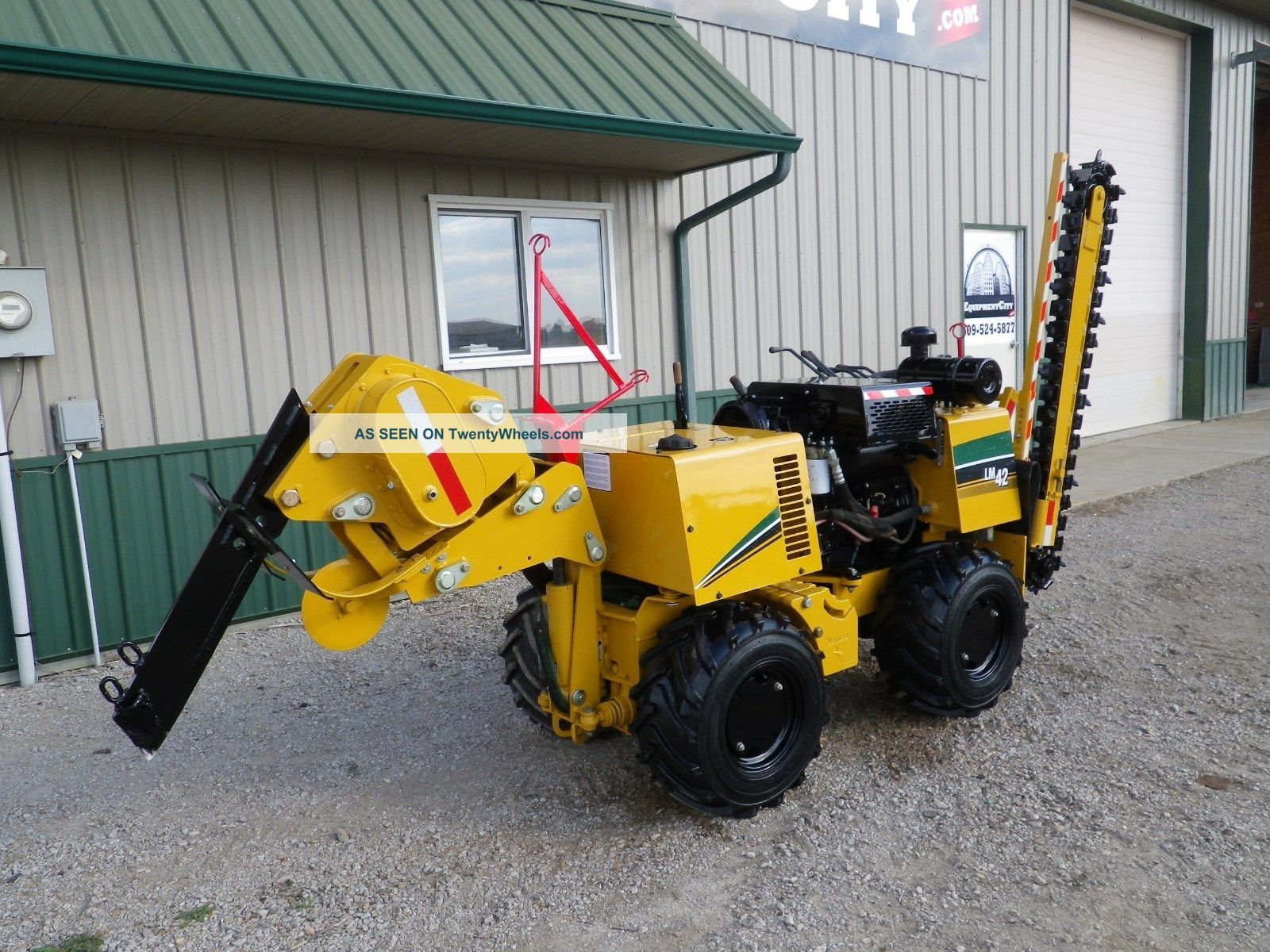 2008 Vermeer Lm42 Trencher Vibratory Plow Drop Ditch Witch Bore Only