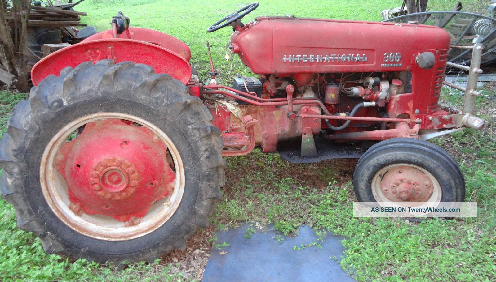 Antique International Tractor Wheel : Antique international utility tractor