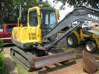 2005 Volvo Ec55b Excavator Cab Ac 12000 Trachoe Dozer Blade photo