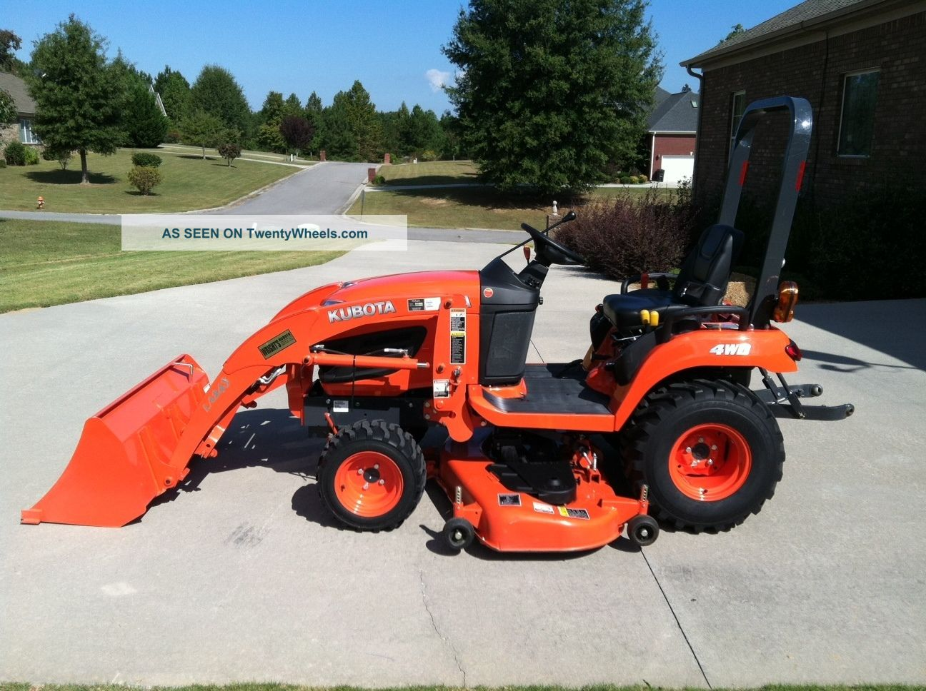 2012 kubota bx2360 4x4 with mower loader and factory