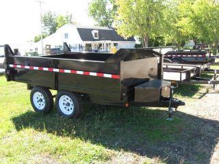 Griffin 6x10 Dump Equipment Skidsteer Bobcat Trailer photo