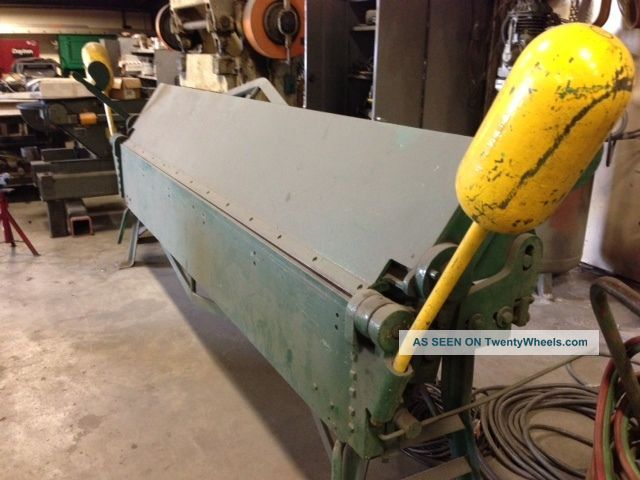 Chicago Floor Brake,  Sheetmetal Hand,  D & K,  10ft X 14 Ga,  Usa,  Trim.  Folder Metal Bending Machines photo