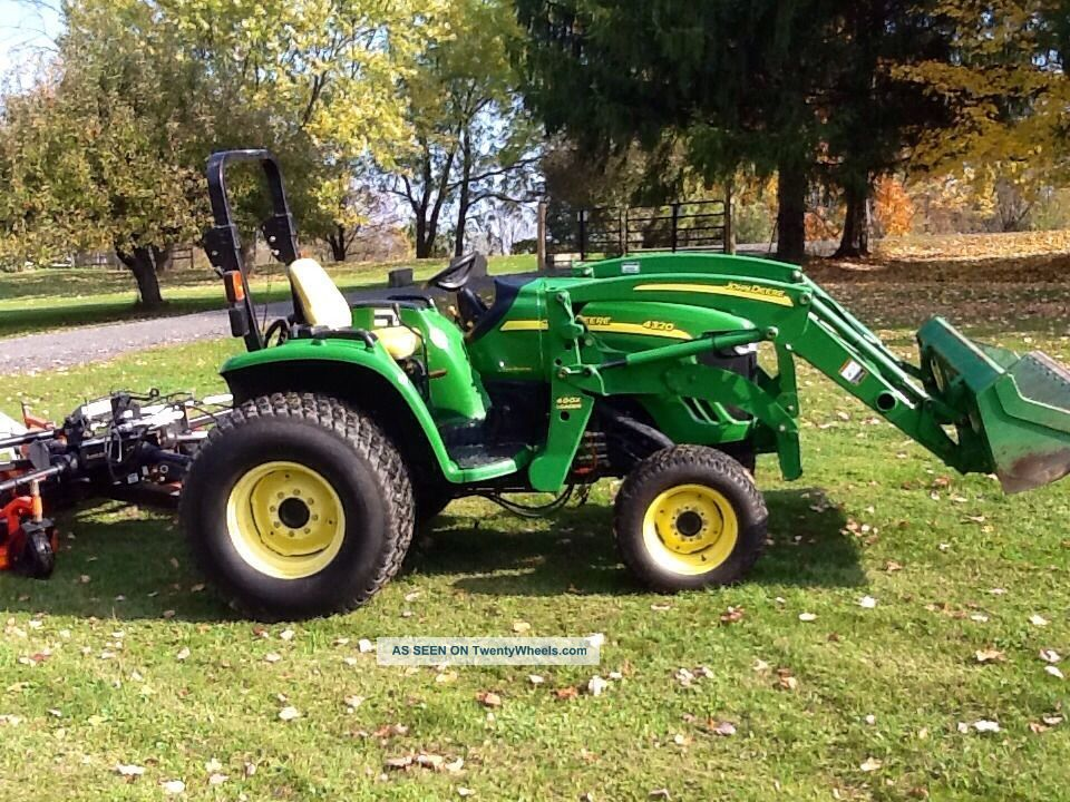 4320 John Deere 4wd / Finish Mower/ Backhoe