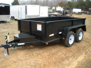 Carry - On 6x10 Dump Trailer Low Profile Landscape Equipment Spread Gate photo