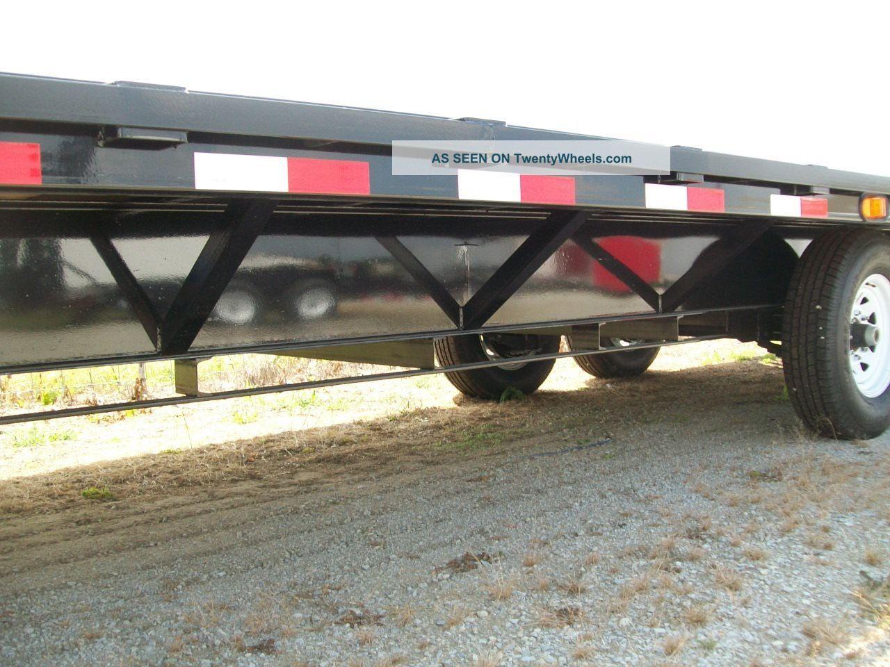 gooseneck flat bed heavy duty equipment trailer 101 x 25. Black Bedroom Furniture Sets. Home Design Ideas