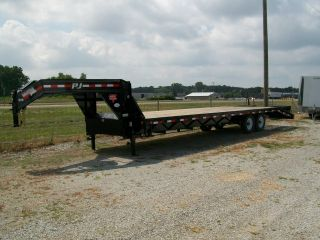 Gooseneck Flat Bed Heavy Duty Equipment Trailer 101