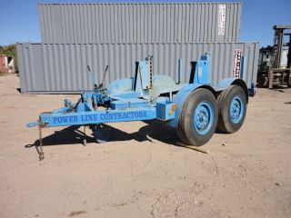 Eaton Tandem Axle Hydraulic Cable Reel Trailer 04886 photo