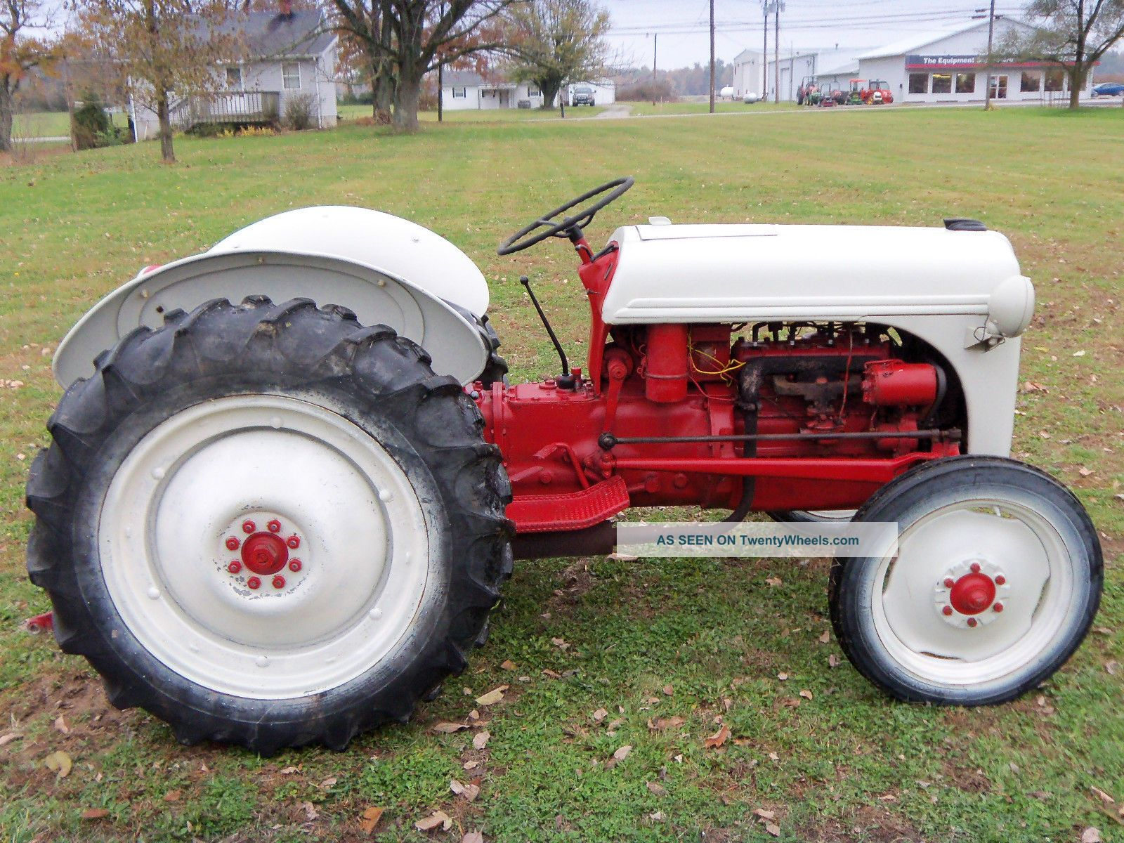1950 Ford Tractor Tractor Vermilion : Ford n tractor with
