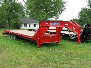 26 ' Triple Axle Load Trail,  Load Max Deckover Equipment Skidsteer Trailer photo