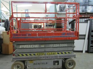 Skyjack Sjiii 4626 Wide Platform Scissor Lift photo