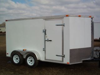 6x12 Enclosed Trailer Cargo Tandem Dual Double Axle V - Nose Lawn Motorcycle 14 photo