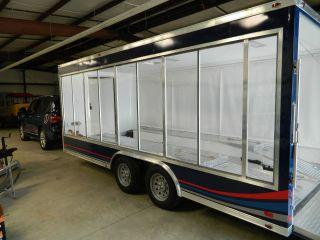 Look At This See Through Customized Fiberglass Race Car Trailer photo