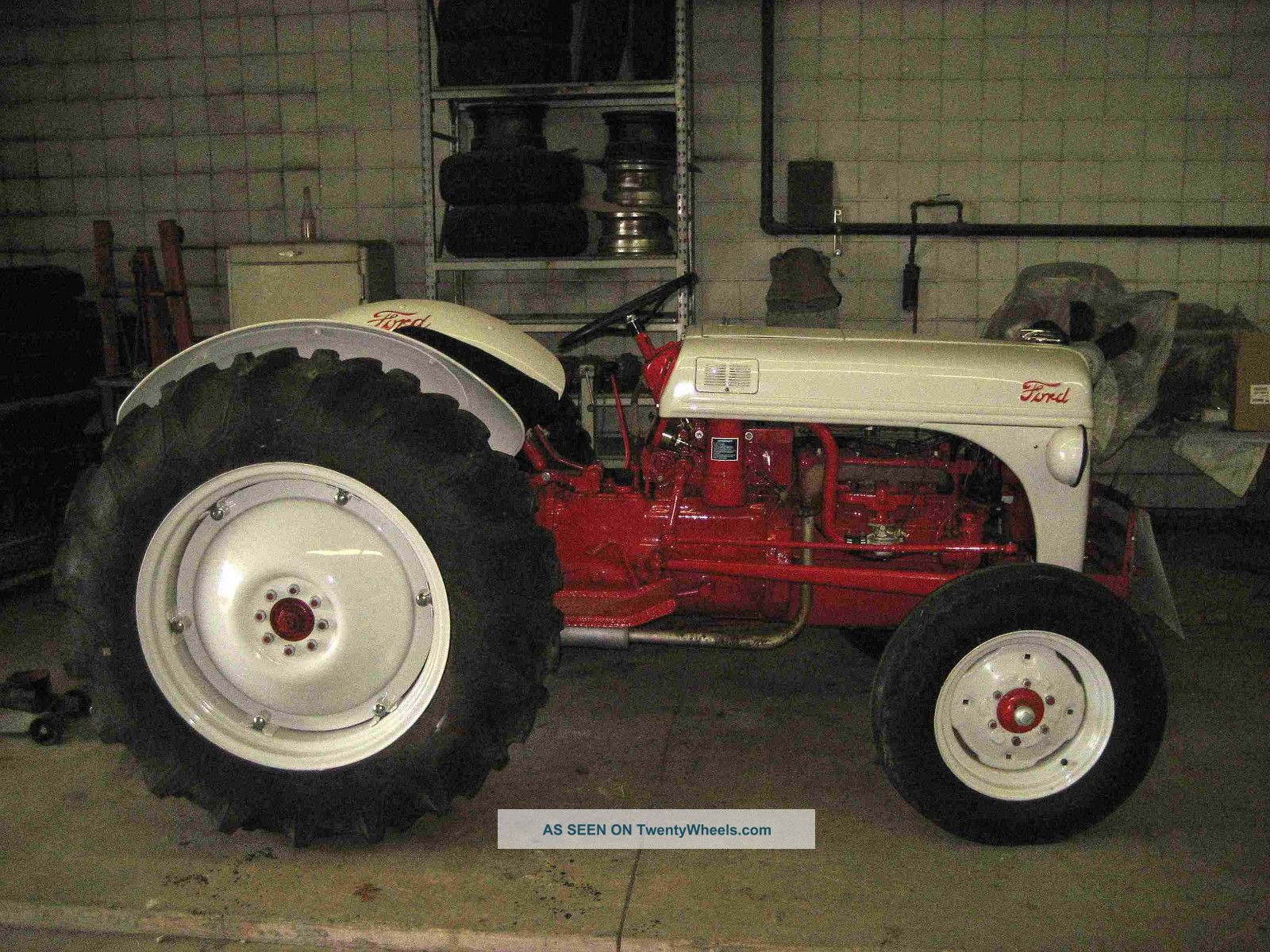 8n Ford Tractor Transmission : Ford n tractor very rare restored sherman high low