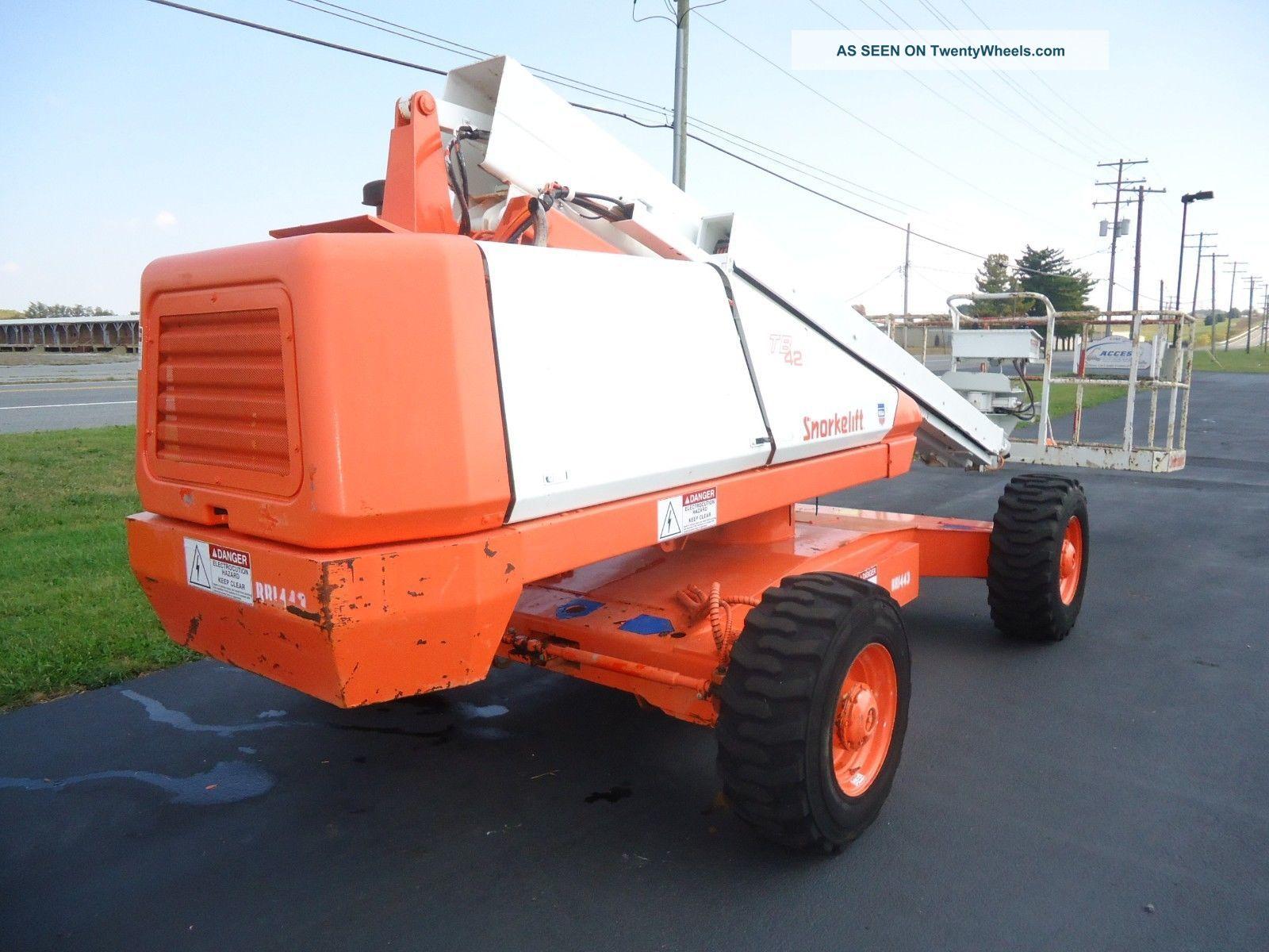snorkel tb42 boom lift manlift man lift aerial boomlift. Black Bedroom Furniture Sets. Home Design Ideas