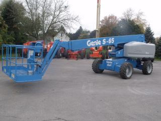 2006 Genie S65 Aerial Manlift Boom Lift Man Boomlift Built In Generator photo